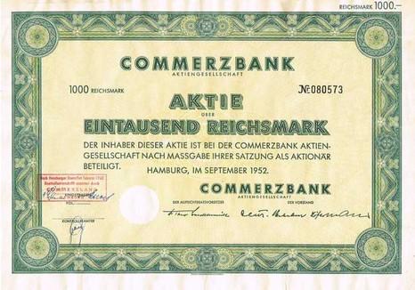 Commerzbank Aktie Wert